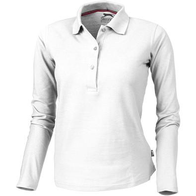 Slazenger™ Damen Langarm Poloshirt Point, weiß, XL