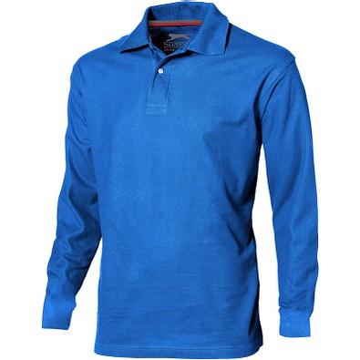 Slazenger™ Herren Langarm Poloshirt Point, himmelblau, S