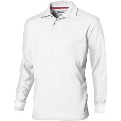 Slazenger™ Herren Langarm Poloshirt Point, weiß, S