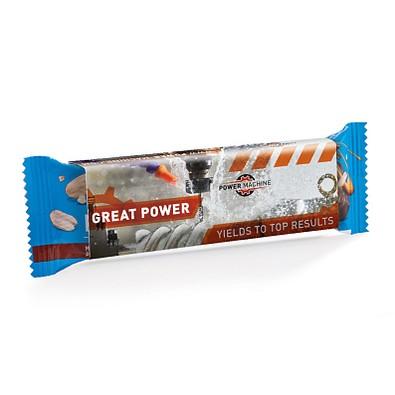 PowerBar Protein Nut2 Riegel im Werbeschuber Milk Chocolate Peanut, inkl. Druck