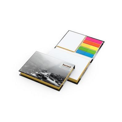 geiger notes Haftnotizen Prag White Bestseller matt, inkl. Druck auf Umschlag, Farbschnitt gelb