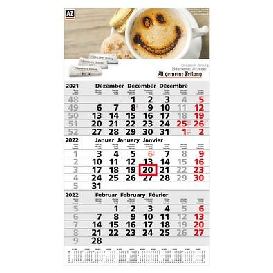 3-Monats-Wandkalender Post 2022
