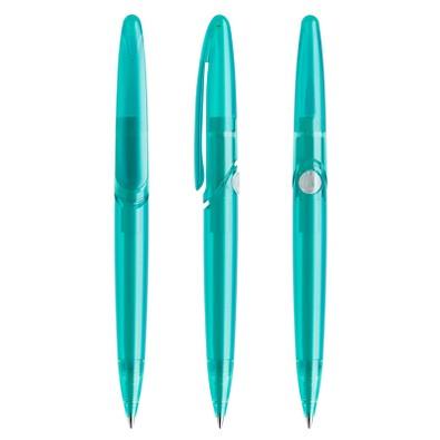 prodir® Druckkugelschreiber DS7 PFF Push, blaue Mine, türkis