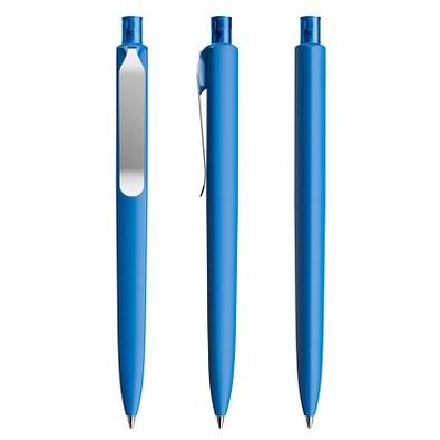 prodir® Druckkugelschreiber DS8 Soft Touch PSR Push, blaue Mine, blau