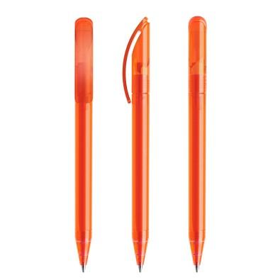 prodir® Drehkugelschreiber DS3 TFF, blaue Mine, orange/gefrostet
