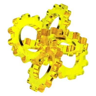 Pussycat 3D-Geduldspiel Hexon, transparent-gelb