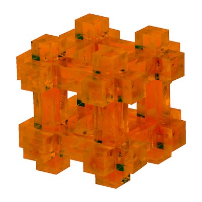 Pussycat 3D-Geduldspiel Käfig, transparent-orange