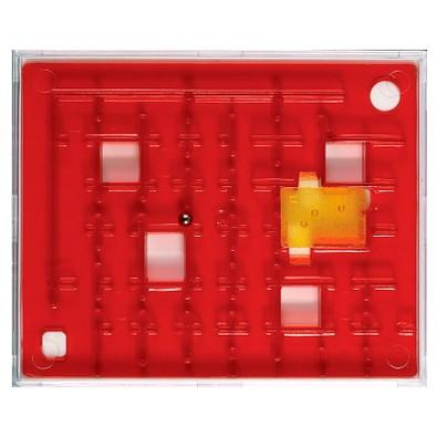 Pussycat Geduldspiel Labyrinth, transparent-rot