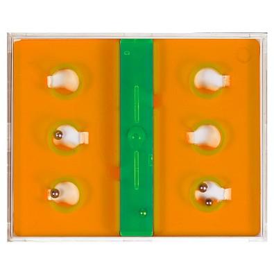 Pussycat Geduldspiel Six, transparent-orange
