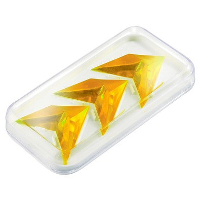 Pussycat Geduldspiel-Set Triple-Pyramide, transparent-gelb