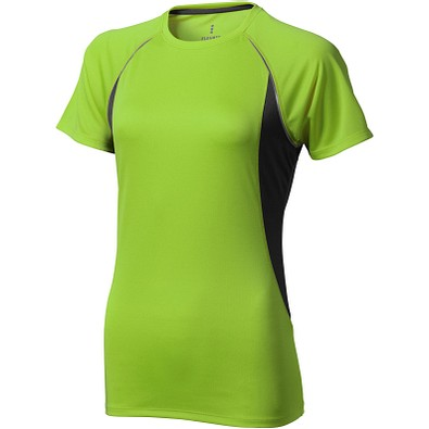 ELEVATE Damen T-Shirt Quebec cool fit, apfelgrün,anthrazit, XS