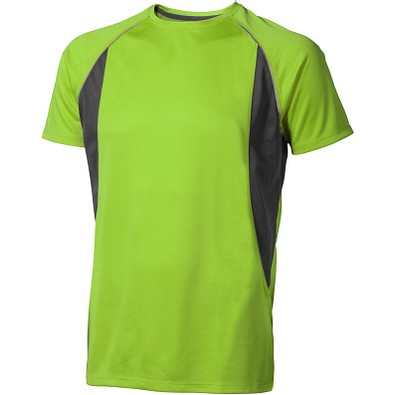 ELEVATE Herren T-Shirt Quebec cool fit, apfelgrün,anthrazit, XS