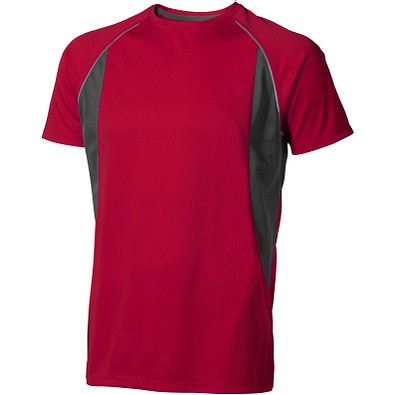 ELEVATE Herren T-Shirt Quebec cool fit, rot,anthrazit, XS