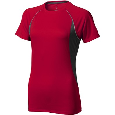 ELEVATE Damen T-Shirt Quebec cool fit, rot,anthrazit, XXL