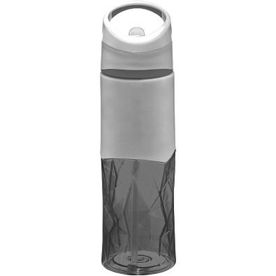 Radius Tritan Geometrische Sportflasche, 830 ml, schwarz,grau