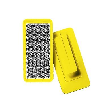 Reflektor Rechteck mit Klammer, standard-gelb