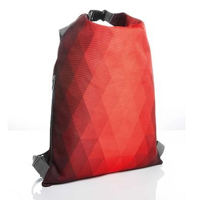 HALFAR Rucksack Diamond mit Wickelverschluss, rot