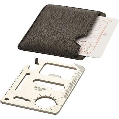 Saki 15 Funktionen Werkzeugkarte, silber,schwarz