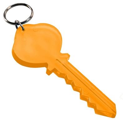 Schlüsselanhänger Key, transparent-orange