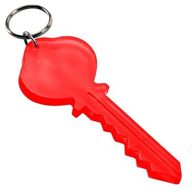 Schlüsselanhänger Key, transparent-rot