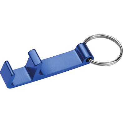 Schlüsselanhänger mit Flaschenöffner, blau