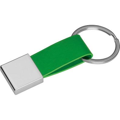 Schlüsselanhänger mit Kunstleder-Bändchen, grün