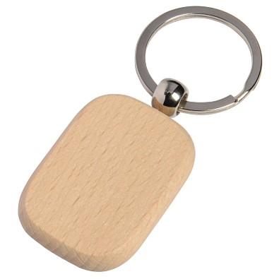 Schlüsselanhänger Holz, rechteckig
