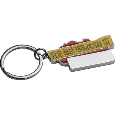 Schlüsselanhänger You are welcome!!!, rot