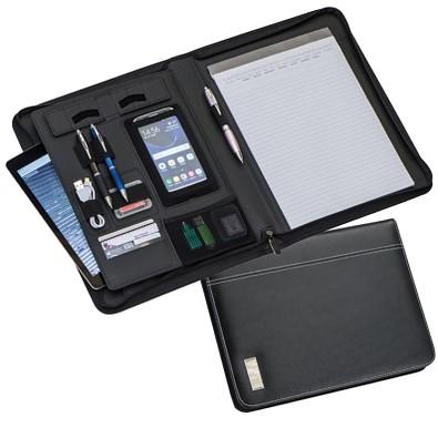 Schreibmappe Modern, DIN A4, schwarz