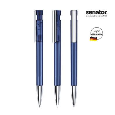 senator® Druckkugelschreiber Liberty Clear MTT MC, blaue Mine, blau 2757