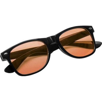 Sonnenbrille mit farbigen Gläsern, orange