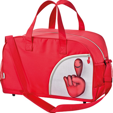 Sporttasche Smile-Hand, Rot
