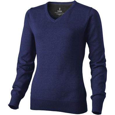 ELEVATE Damen Pullover Spruce mit V Ausschnitt, dunkelblau, XL
