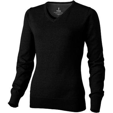 ELEVATE Damen Pullover Spruce mit V Ausschnitt, schwarz, XL