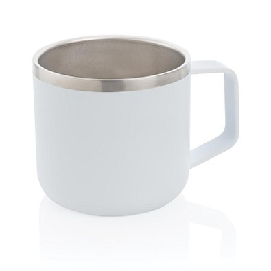 Stainless-Steel Camping-Tasse, 350 ml, weiß