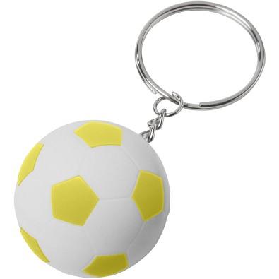 Striker Fußball Schlüsselanhänger, weiss,gelb