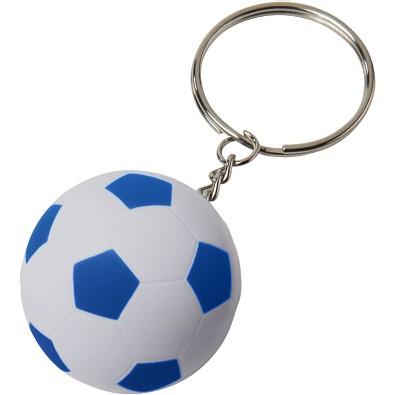 Striker Fußball Schlüsselanhänger, weiss,royalblau
