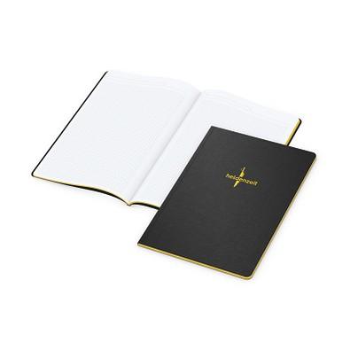 geiger notes Broschur Tablet-Book A4, inkl. Prägung und Farbschnitt gelb