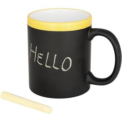 Tasse zum Beschreiben mit Kreide, 250 ml, gelb