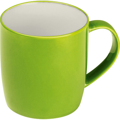 Tasse aus Keramik, 300 ml, apfelgrün