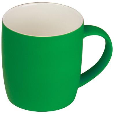 Tasse matt gummiert, 300 ml, grün