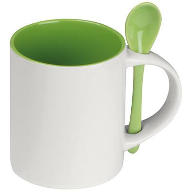 Tasse mit Löffel Savannah,apfelgrün