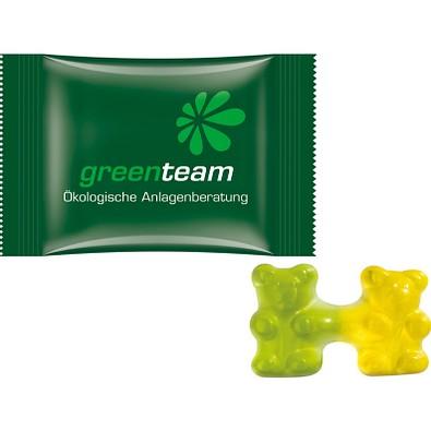 Trolli Team Gummibärchen, inkl. Druck, kompostierbare Folie, weiß