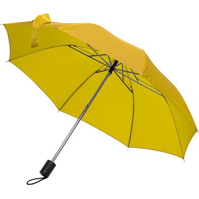 Teleskop-Taschenschirm aus Polyester mit Schutzhülle, gelb