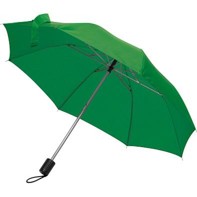 Teleskop-Taschenschirm aus Polyester mit Schutzhülle, grün