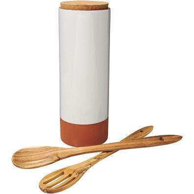 Jamie Oliver Terracotta-Pastabehälter mit Löffeln, orange
