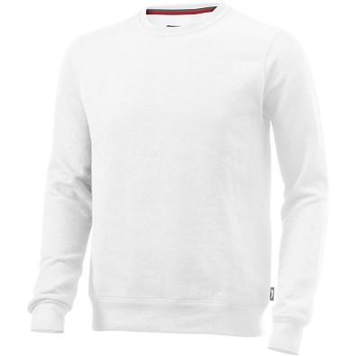 Slazenger™ Unisex Sweatshirt Toss mit Rundhalsausschnitt, weiß, XXL