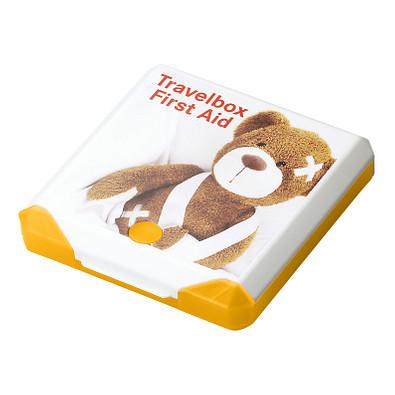 Travelbox First Aid, gelb