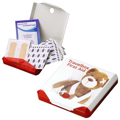 Travelbox First Aid, rot