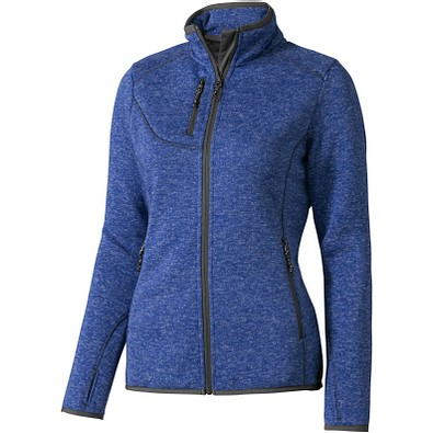 ELEVATE Damen Strickfleece Jacke Tremblant, blau, XS